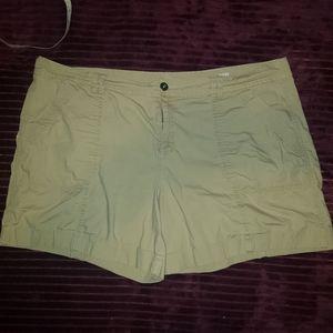 Ana size 20 summer shorts tan